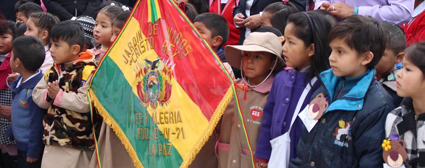 Niños y niñas de Fe y Alegría La Paz