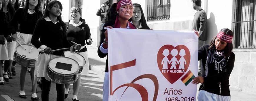 Estudiantes de Fe y Alegría Chuquisaca